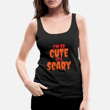 Witch I'm so cute, it's scary Halloween - Women's Premium Tank Top