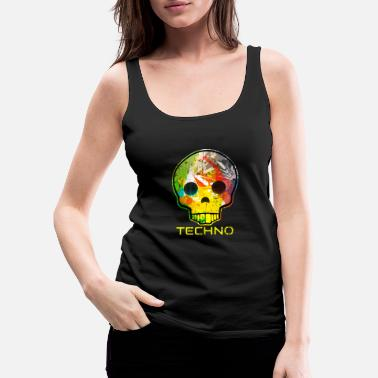 Techno Techno Skull Dance Music Hard Techno Design EDM - Vrouwen Premium tank top