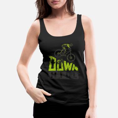 Mountain bike downhill heat MTB rider gift - Women's Premium Tank Top