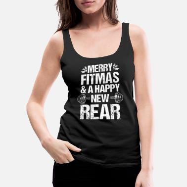 Ferie Merry Fitmas Xmas Christmas New Fitness - Premium singlet for kvinner
