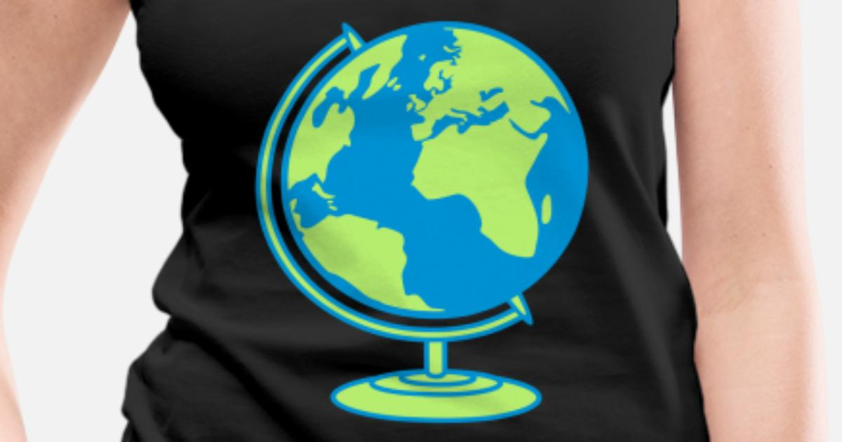 Globus Weltkugel Karte.Globus Planet Erde Weltkugel Karte Welt Klimawande Frauen Premium Tanktop Spreadshirt