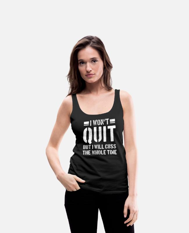 Training Tank Tops - Gym - Fitness Bodybuilding Sport Funny Gift - Women's Premium Tank Top black