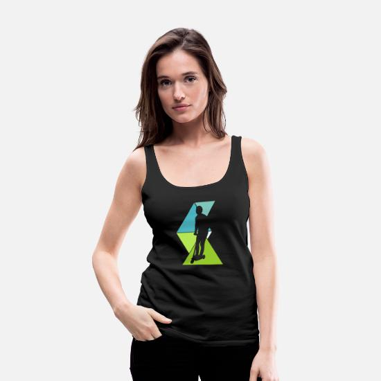 Roller Sports Tank Tops - scooter - Women's Premium Tank Top black