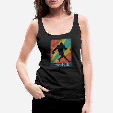 Kicker Runningback Football Polaroid - Frauen Premium Tank Top