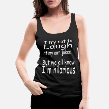 Funny Jokes Funny joke jokes joker fun - Women's Premium Tank Top
