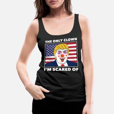 Fuck Anti Donald Trump Halloween Edition Vote For Dems - Women's Premium Tank Top