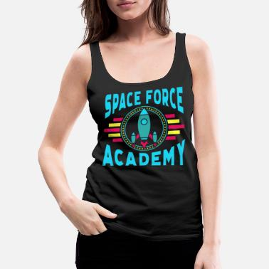 Military Space Force Academy Art, Vintage Retro Novelty - Women's Premium Tank Top
