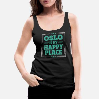 Image Cool Funny Oslo Sayings mug shirt gift idea - Women's Premium Tank Top