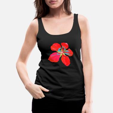 Tropical wonderful tropical, colorful flower, blossom - Women's Premium Tank Top