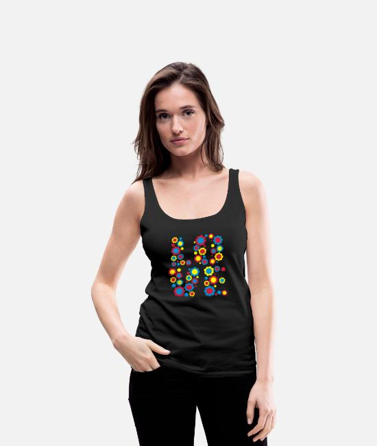 Design Tank Tops - Flower Love by Cheerful Madness!! - Women's Premium Tank Top black