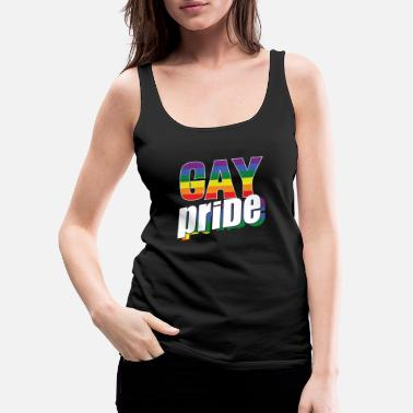 Human Rights Belong To Everyone LGBT Shirts | LGBTQ Gay Pride Rainbow Gifts - Women's Premium Tank Top