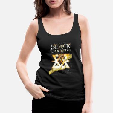 Danny Pie Black Underwear Flaming Logo - Women's Premium Tank Top