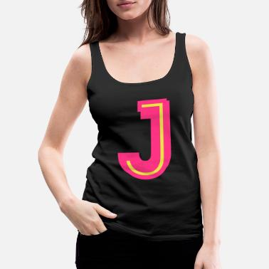 Neon J neon pink yellow - Women's Premium Tank Top