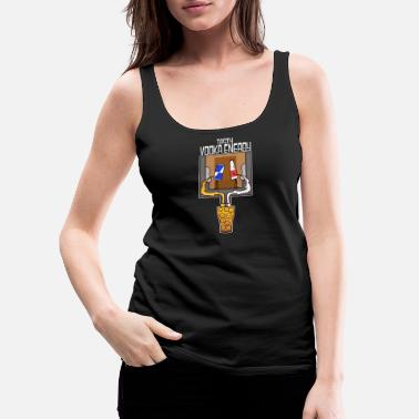 Restroom Cocktail Vodka Energy Pee Tasty Dose - Women's Premium Tank Top