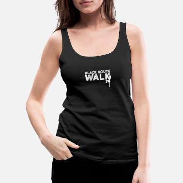 Black route walk - Frauen Premium Tanktop