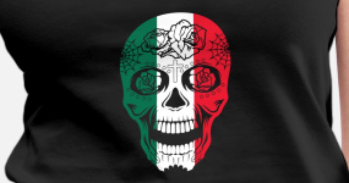 d2bdc35995248 Drapeau mexicain Crâne de sucre Calavera Jour des morts Débardeur premium  Femme   Spreadshirt