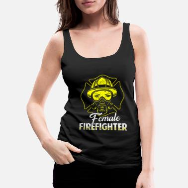 Fire Fighter Firefighter fire rescue heroine fire protection - Women's Premium Tank Top