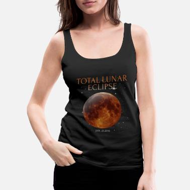 Wicca Total lunar eclipse 2019 shirt for January - Women's Premium Tank Top