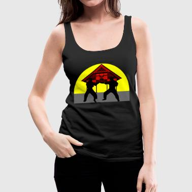 temple combat - Frauen Premium Tank Top