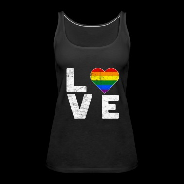 LGBT Pride Rainbow Color Love Heart Gay Pride - Women's Premium Tank Top