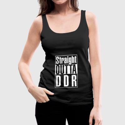 Straight Outta DDR - hvid! - Dame Premium tanktop