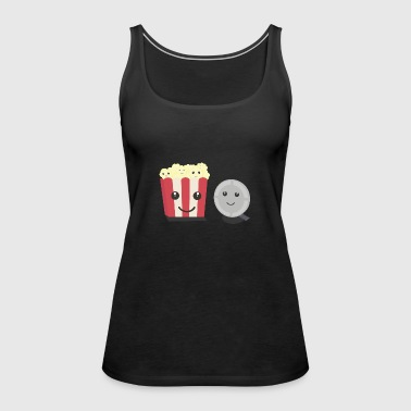 Cinema film Pocorn with faces - Women's Premium Tank Top