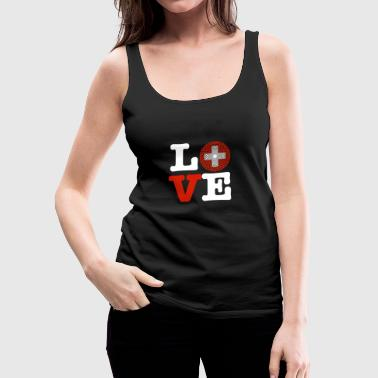 Switzerland heart - Women's Premium Tank Top