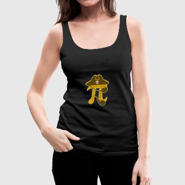 Pi Pirate Funny Algebraic Mathematic Symbol Sign - Vrouwen Premium tank top