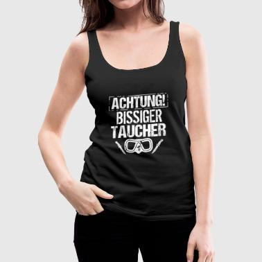 Attention - Biting diver - Women's Premium Tank Top