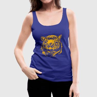 Lions Head lion head - Women's Premium Tank Top
