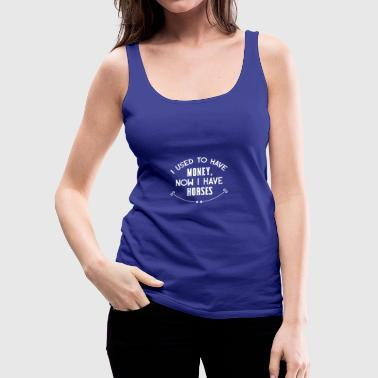 I used to have money white - Frauen Premium Tank Top