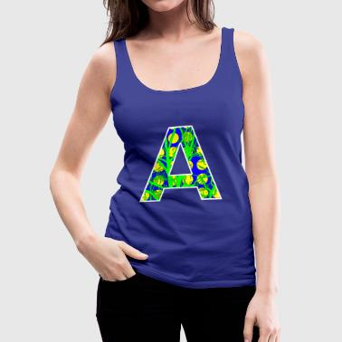 Letter Initial Letter A Initial Popart - Women's Premium Tank Top