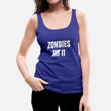 Greve Zombie Kill Count Skræmmende Halloween Design Light - Dame Premium tanktop