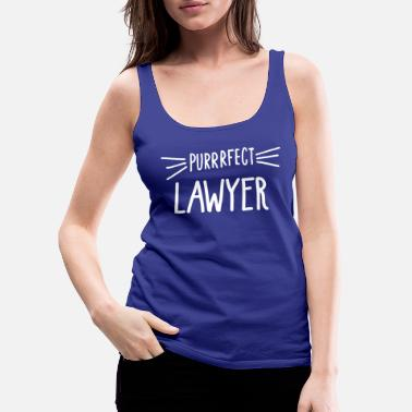 Lawyer Gift Cute Perfect Lawyer Cat Lover design - Women's Premium Tank Top