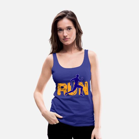 Triathlet Tank Tops - Running run - Women's Premium Tank Top royal blue