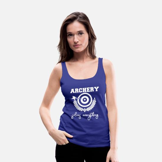 Arrow And Bow Tank Tops - Archer - Archer T-Shirt - Quote - Women's Premium Tank Top royal blue