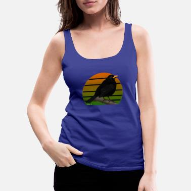 Illustratie jz.birds merel vogel illustratie - Vrouwen premium tank top