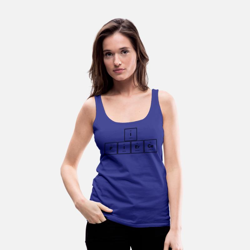 Pierce Tank Tops - I PIErCe - Premium tanktop dame kongeblå