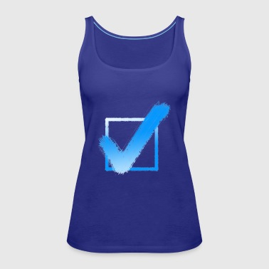 Check Hook Checkmark Yes Checklist Gift Idea - Women's Premium Tank Top