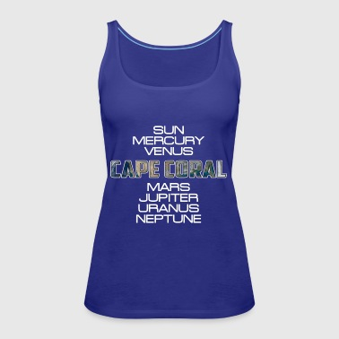 Solar System Planet Earth Cape Coral Gift - Women's Premium Tank Top