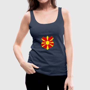 macedonia shield - Tank top damski Premium