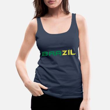 Lima ♥I Love Brazil-Vector Awesome Country Design♥ - Women's Premium Tank Top