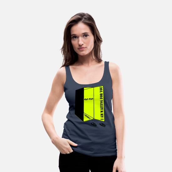 Thought Tank Tops - Waiting for you - Women's Premium Tank Top navy