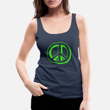 Nuklear peace sign - Premium singlet for kvinner