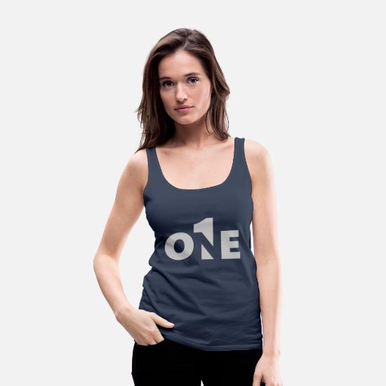 Birthday Tank Tops - Number One - Number One - 1 - No1 - # 1 - First - Women's Premium Tank Top navy