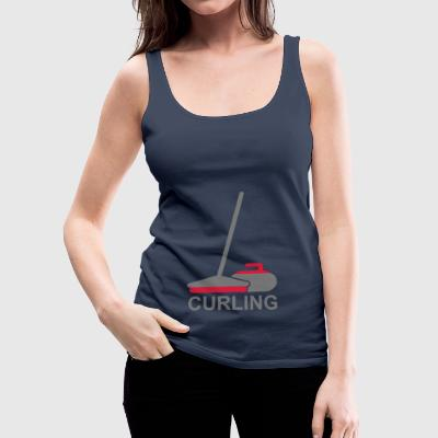 2541614 15955916 curling2 - Women's Premium Tank Top