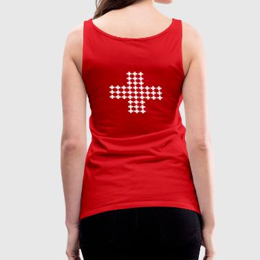 Many Swiss crosses - Women's Premium Tank Top