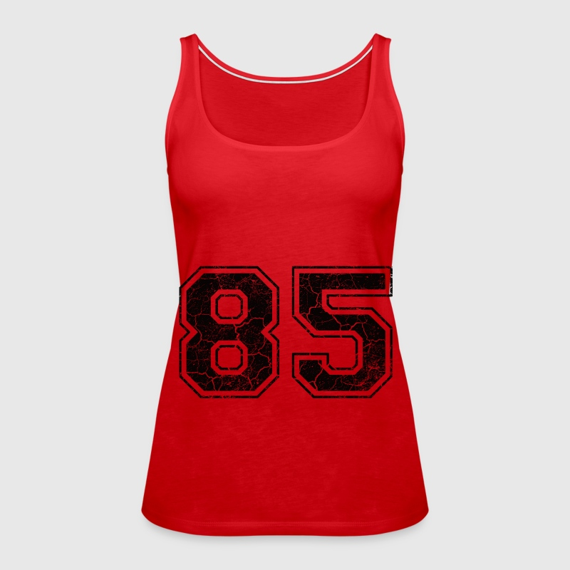 Number 85 in the grunge look - Women's Premium Tank Top