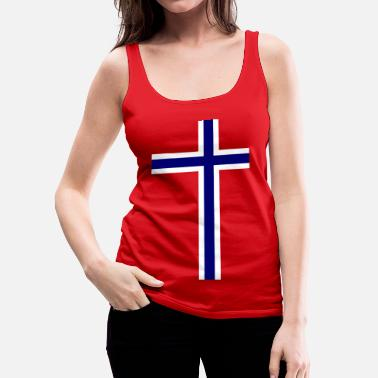 Norge Norge Norge Norge flag - Dame Premium tanktop