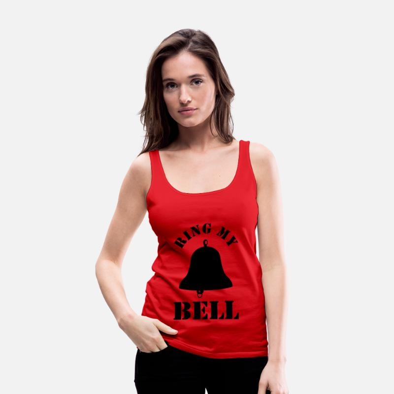 Ring Tank Tops - Ring my bell - Women's Premium Tank Top red